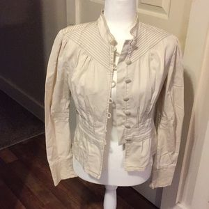 Plugg cream colored lightweight jacket size M